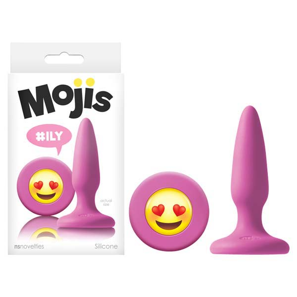 Mojis - #ILY - Pink 8.6 cm (3.4'') Mini Butt Plug with Emoji Base