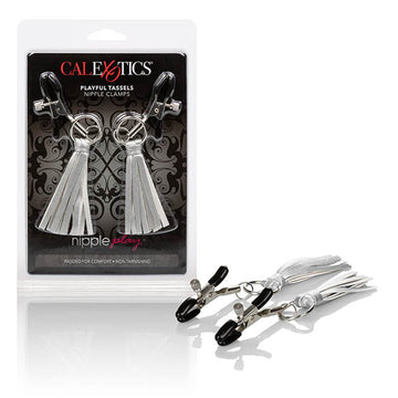 nipple play Playful Tassels Nipple Clamps - Silver Nipple Clamps
