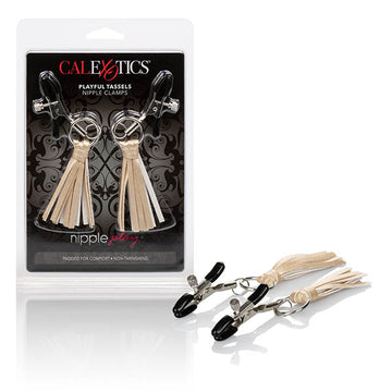 nipple play Playful Tassels Nipple Clamps - Gold Nipple Clamps