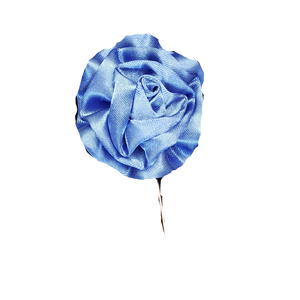 Baby Blue Silk Lapel Pin