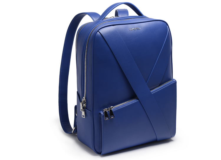 Deabreu Luxury Blue Leather Backpack