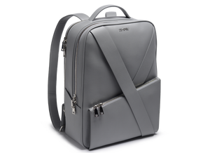 Deabreu Luxury Grey Leather Backpack