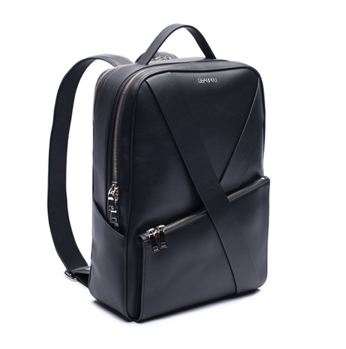 Deabreu Luxury Black Leather Backpack