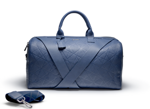 Deabreu Luxury Blue Leather Duffle