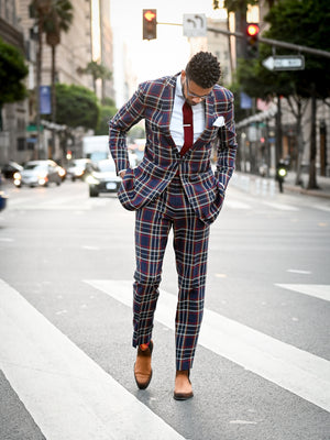 Power Plaid Suit