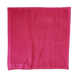 Red Silk Knit Pocket Square