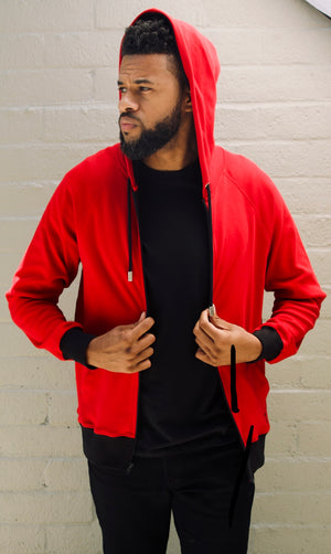 Red Luxury Hoodie Anglero x Michael Ferrera