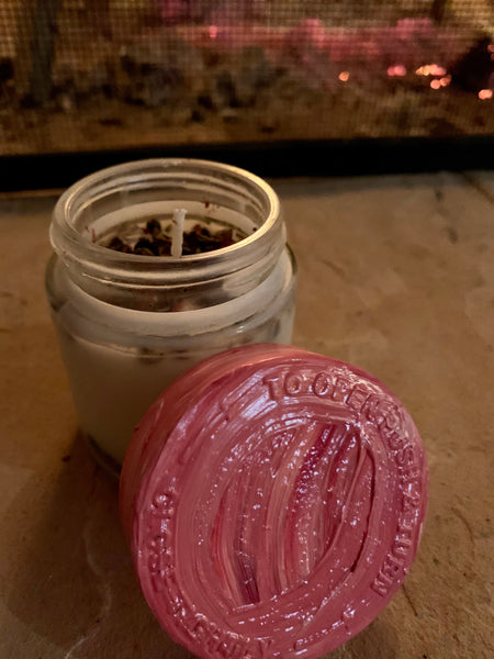 Customized Aromatherapy Repurposed Soy Affirmation Candle