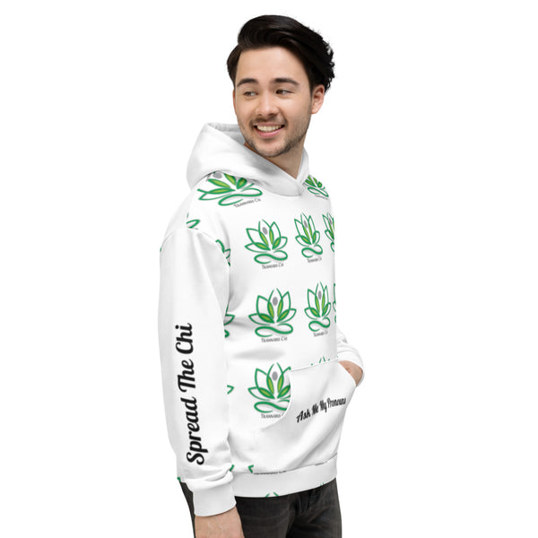 Trannabis Chi Spread The Chi Ask My My Pronouns Patterned Unisex Hoodie