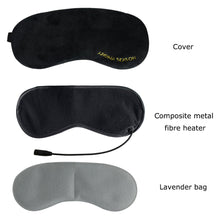 Load image into Gallery viewer, USB Steam Heated Eye Mask | Electric Heating Lavender Eye Mask