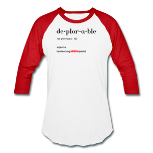 True Deplorable Long Sleeve - white/red