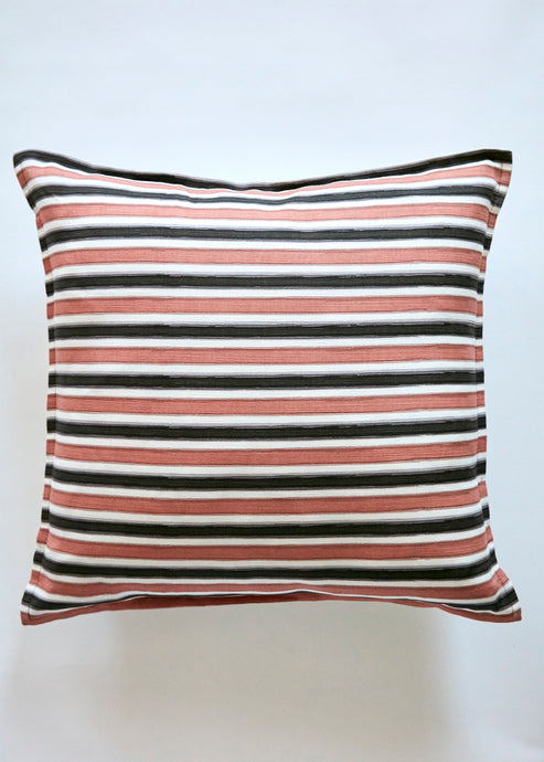 token stripe coral pillow