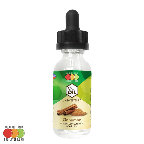 MCT Medium Chain Triglycerides Cinnamon Liquid Flavor Concentrate Edible for Baking, Candy Making, Beverages, Vaping and E-Liquid E-Juice