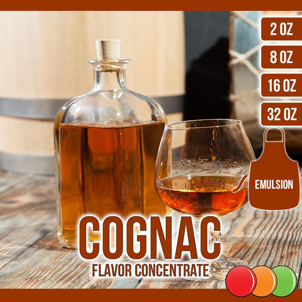 Cognac (Emulsion) Flavored Liquid Concentrate OOOFLAVORS.COM •ÈÀThe bitter taste of Cognac, with its sweet aftertaste, will always be at the perfect temperature, which makes it the perfect flavor