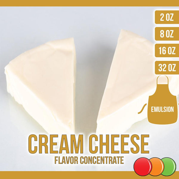 Cream Cheese (Emulsion) Flavored Liquid Concentrate OOOFLAVORS.COM Creamy and smooth cream cheese icing flavor
