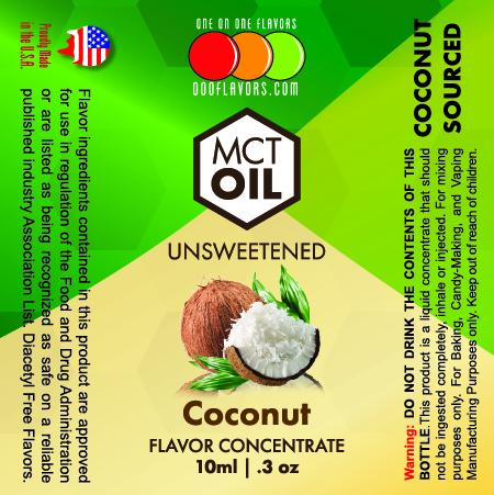 Natural Coconut - MCT Concentrated Flavored Oil *Unsweetened*