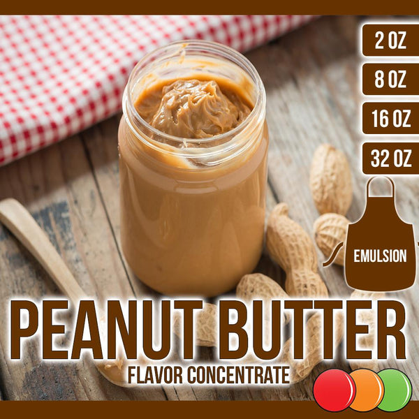 Peanut Butter (Emulsion) Flavored Liquid Concentrate OOOFLAVORS.COM Smooth and creamy peanut butter flavor