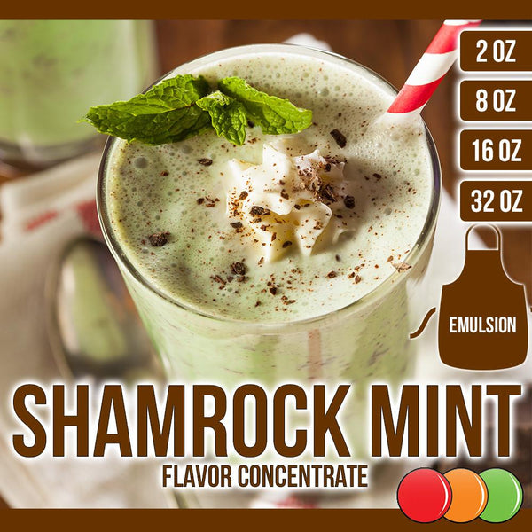 Shamrock Mint (Emulsion) Flavored Liquid Concentrate