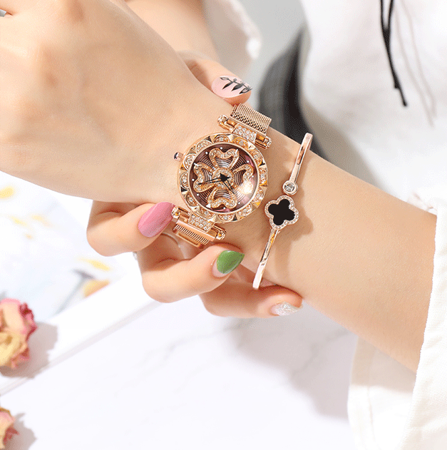 Luxury Lucky Clover Rotating Watch - Buy 2 Free Shipping