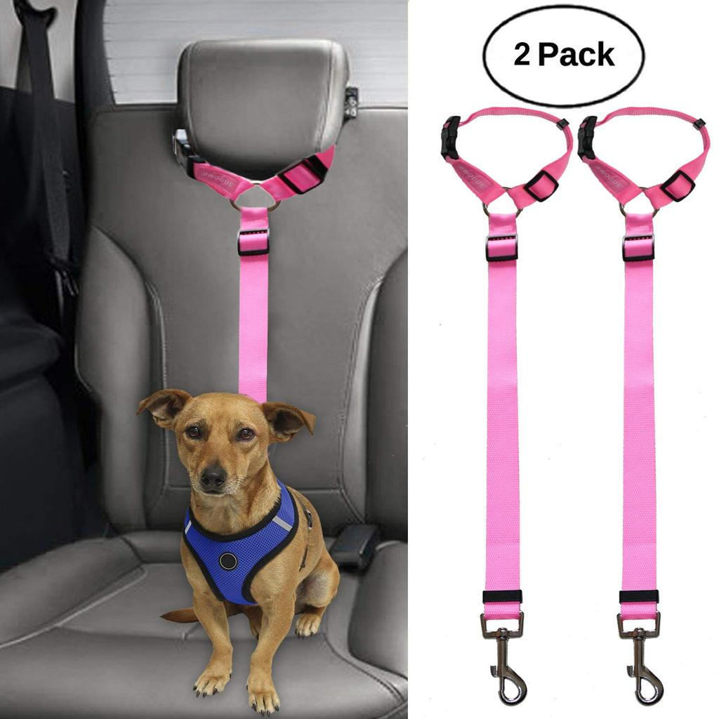 2 Packs Dog Cat Safety Seat Belt Strap Car