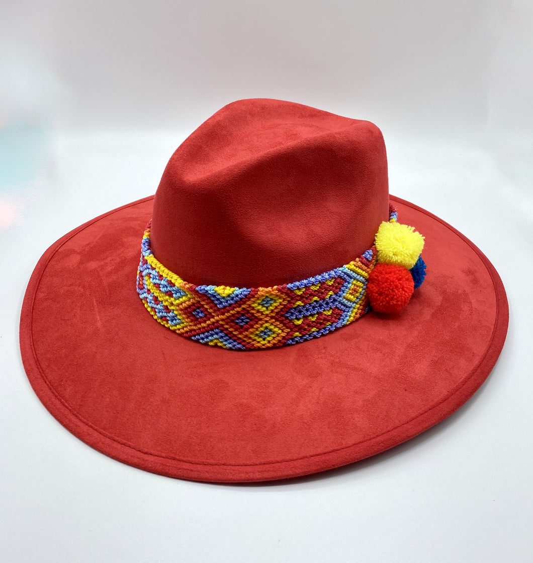 Frida Hat Red
