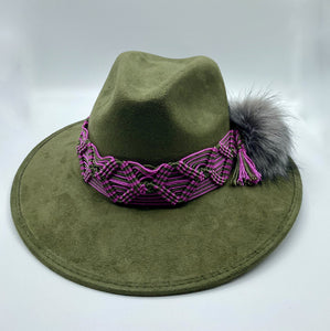 Suede hat, fashion Hat, handmade Hat