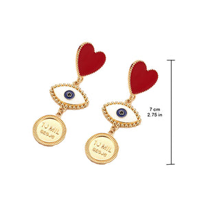 Dangling Earrings evil eye