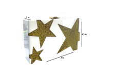 Load image into Gallery viewer, white Box Clutch with gold stars and Chain Strap Shoulder Bag