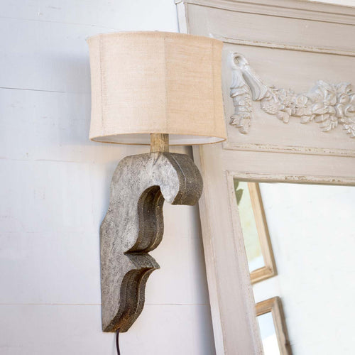 Corbel Lamp Antique Grey