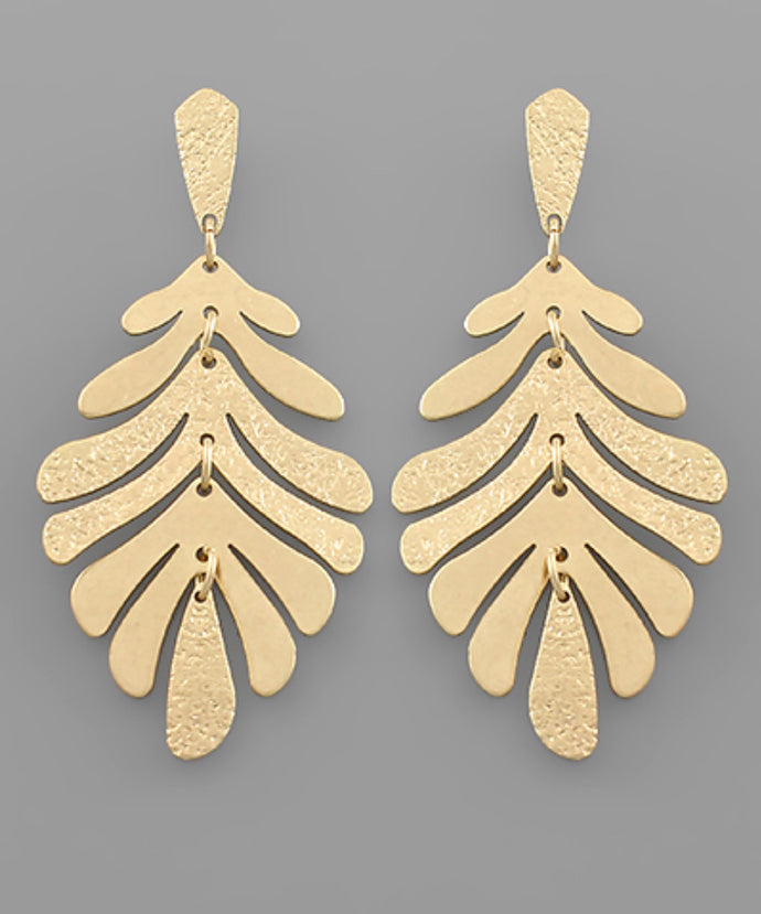 Leaf Drop Earrings (Pre Order)