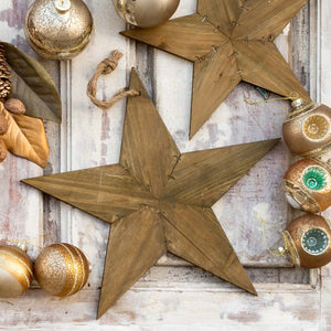 Reclaimed wooden star