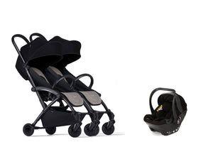 Bumprider Connect Black | SIBLING Beige 2in1 Travel System