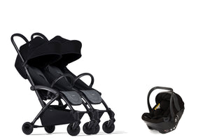 Bumprider Connect Black | SIBLING Grey 2in1 Travel System