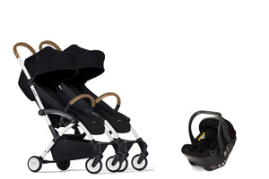 Bumprider Connect White | SIBLING Black 2in1 Travel System