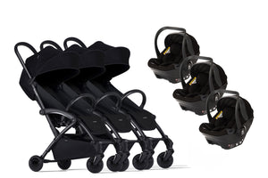 Bumprider Connect Black | TRIPLET Black 2in1 Travel System