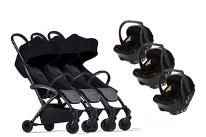 Bumprider Connect Black | TRIPLET Grey 2in1 Travel System