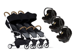 Bumprider Connect White | TRIPLET Grey 2in1 Travel System
