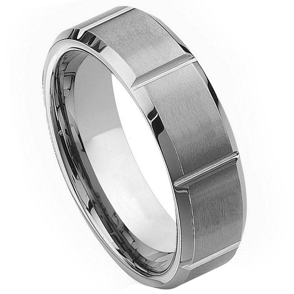 Tungsten Band w/ Indents - Happy Jewelers Fine Jewelry Lifetime Warranty