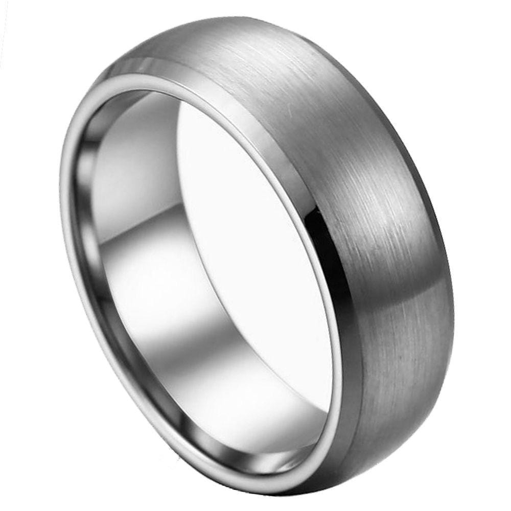 Wide Brushed Tungsten Band - Happy Jewelers Fine Jewelry Lifetime Warranty