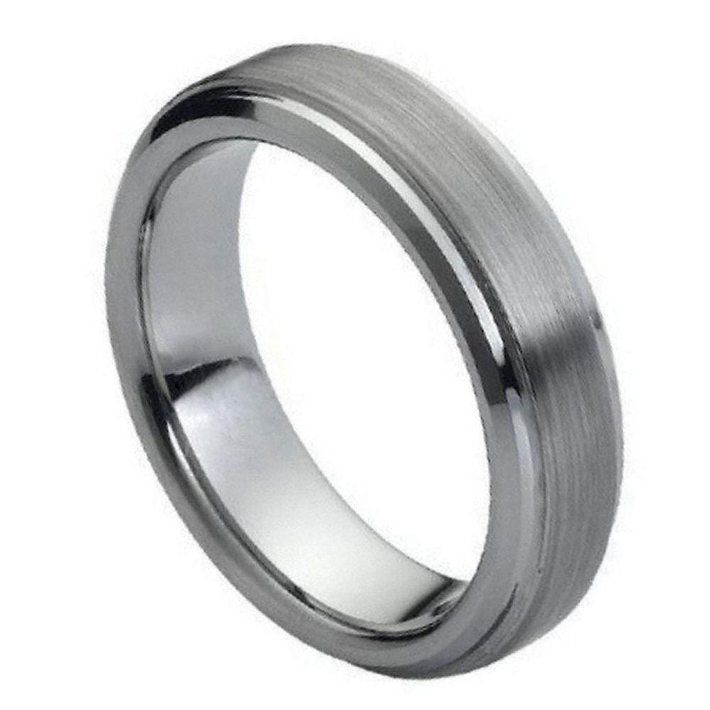 Thin Brushed Tungsten Band - Happy Jewelers