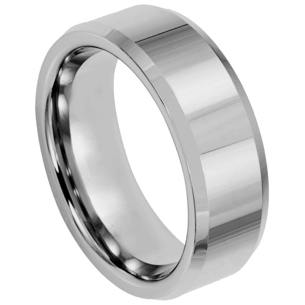 Polished Squared Tungsten Band - Happy Jewelers Fine Jewelry Lifetime Warranty
