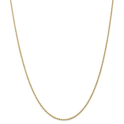 1.50mm Gold Rope Chain - Happy Jewelers Fine Jewelry Lifetime Warranty