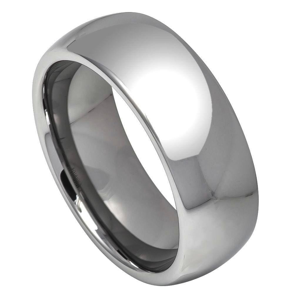 Rounded Polished Tungsten Band - Happy Jewelers Fine Jewelry Lifetime Warranty