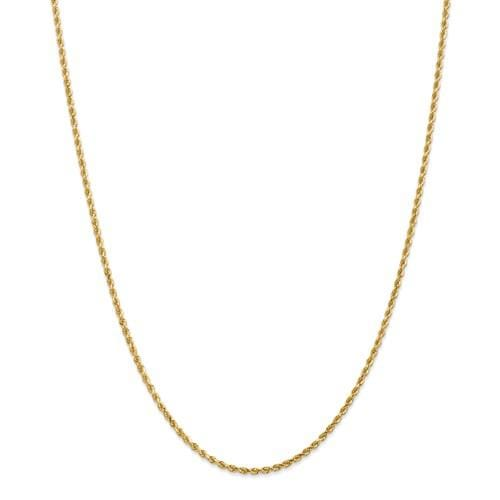 2.00mm Gold Rope Chain - Happy Jewelers Fine Jewelry Lifetime Warranty