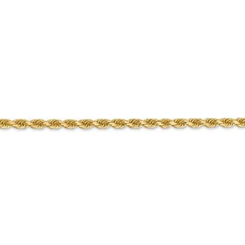 3.00mm Gold Rope Chain - Happy Jewelers Fine Jewelry Lifetime Warranty