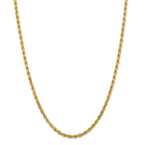 4.00mm Gold Rope Chain - Happy Jewelers Fine Jewelry Lifetime Warranty