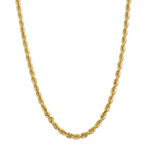 5.50mm Gold Rope Chain - Happy Jewelers Fine Jewelry Lifetime Warranty