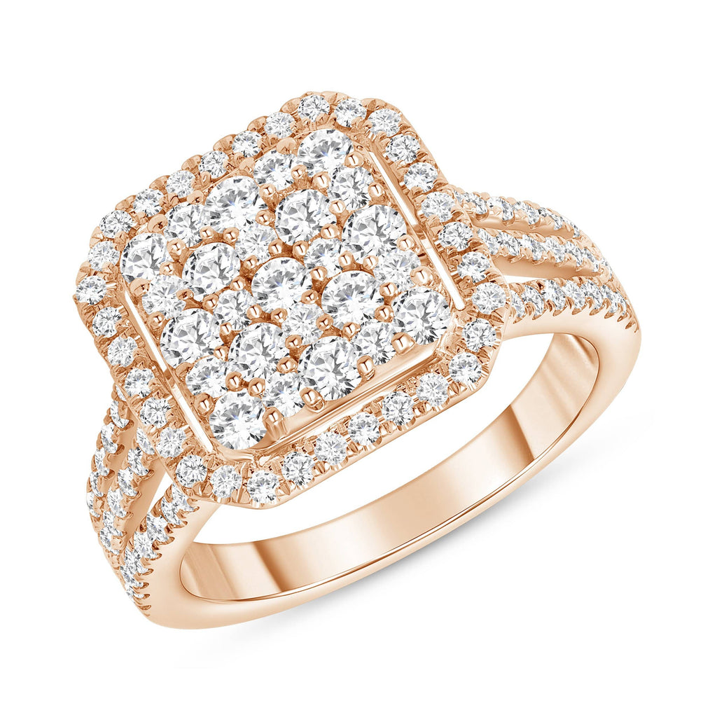 Cushion Cluster Ring - Happy Jewelers