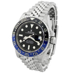 Rolex Mens GMT-Master II Batgirl Stainless Steel 40mm Black Dot Dial Watch Reference #: 126710BLNR - Happy Jewelers Fine Jewelry Lifetime Warranty