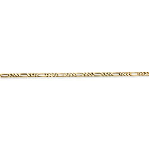 2.00mm Flat Figaro Chain - Happy Jewelers Fine Jewelry Lifetime Warranty